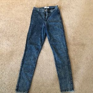 Denim - American Apparel high waisted acid washed jeans S